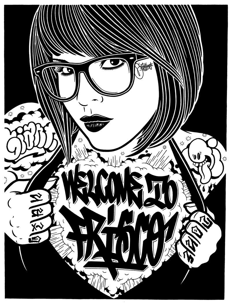 mike-giant-welcome-to-frisco-2010-china-su-carta-61x46cm